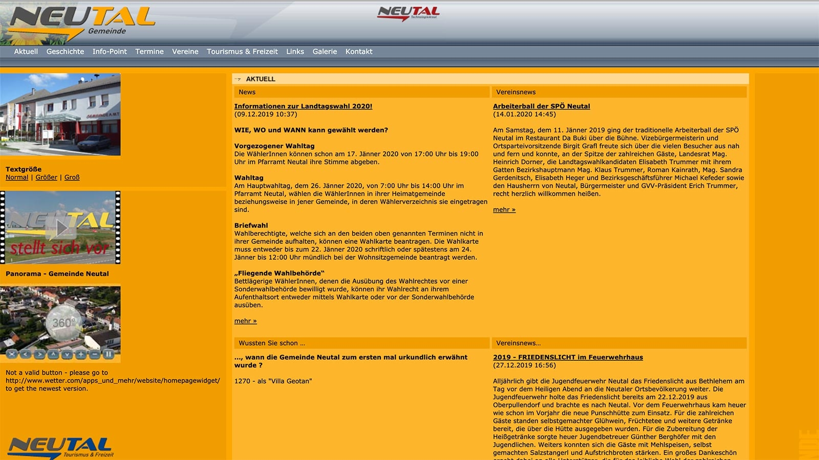 Gemeinde Neutal | neutal.at | 2004 (Screen Only 05) © echonet communication